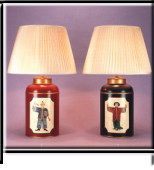 View our selection of Hand Painted Tole Tea Canister Lamp Bases