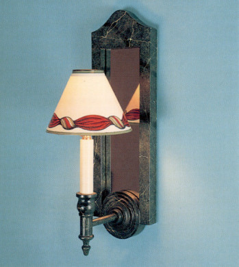 - Woolpit Interiors - Wooden mirror backed wall sconce